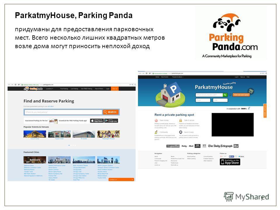 7 придуманы для предоставления парковочных мест. Всего несколько лишних квадратных метров возле дома могут приносить неплохой доход ParkatmyHouse, Parking Panda