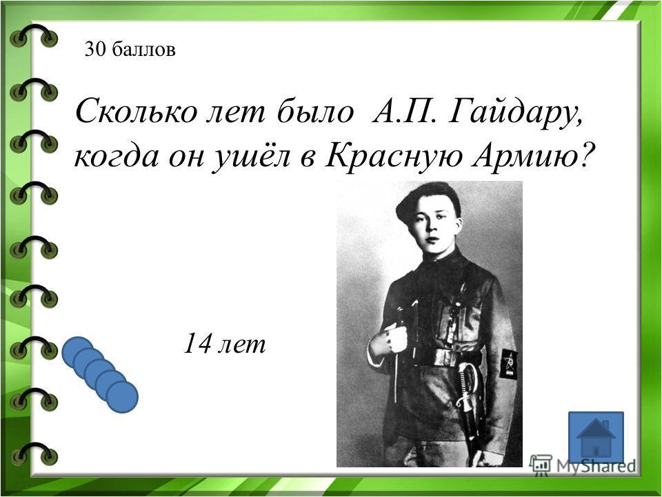 20 баллов Где родился и где провел детство А.П. Гайдар? Львов. Арзамас.