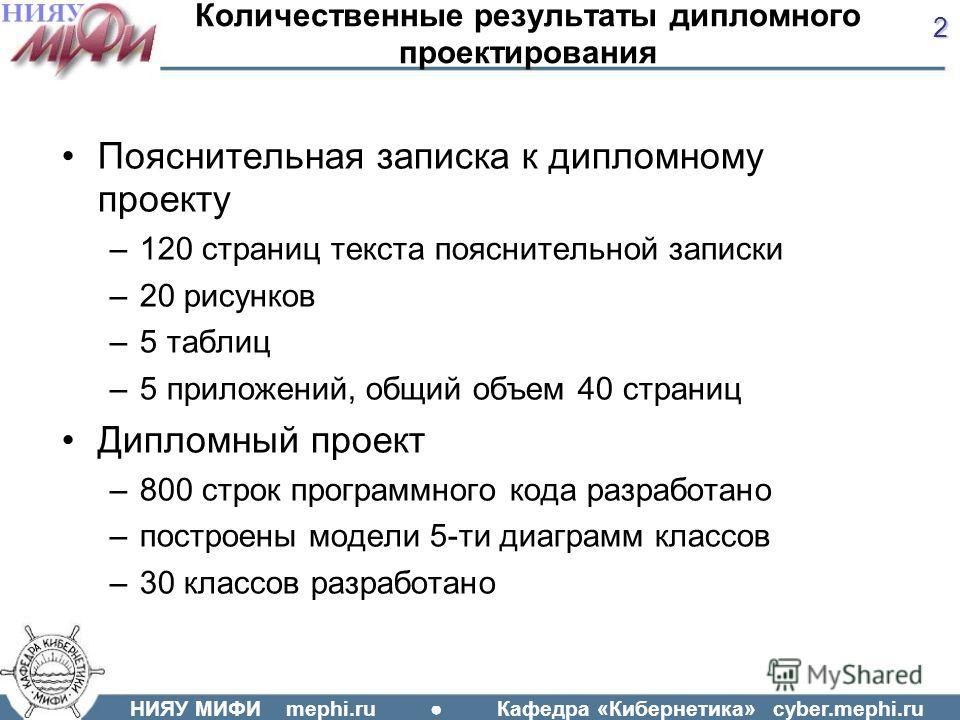 Презентация на тему НИЯУ МИФИ mephi ru Кафедра Кибернетика  2 НИЯУ
