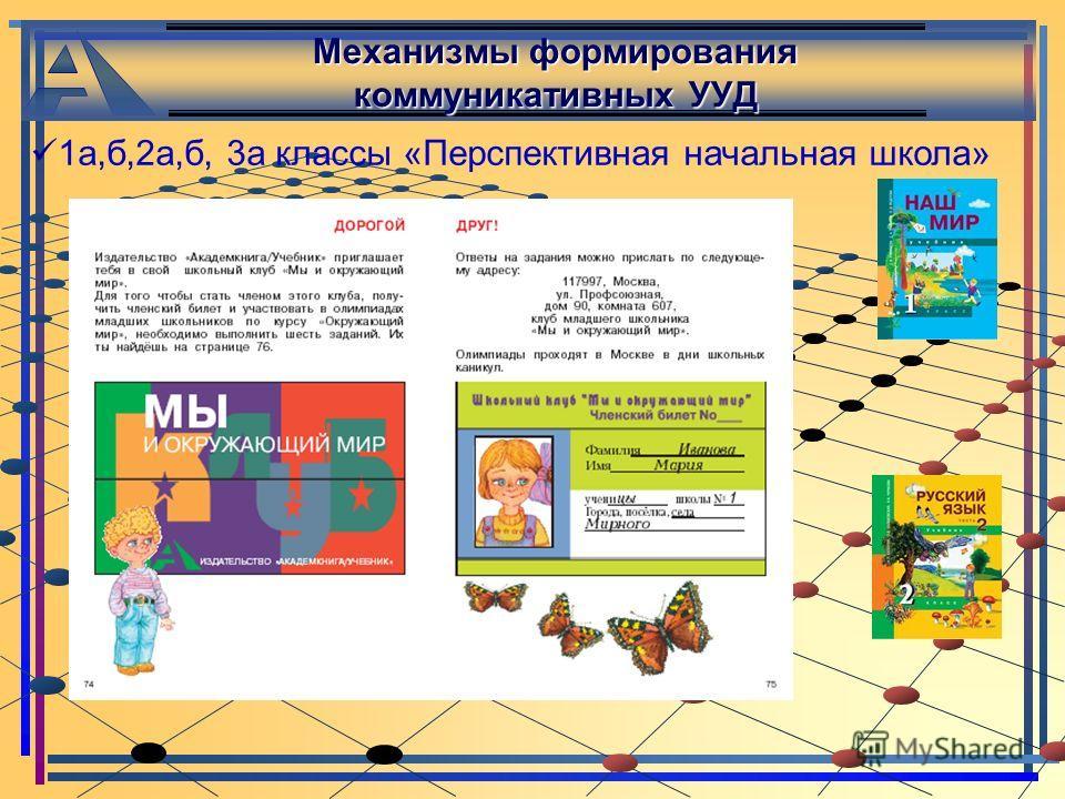 Механизмы формирования коммуникативных УУД 1 а,б,2 а,б, 3 а классы «Перспективная начальная школа»