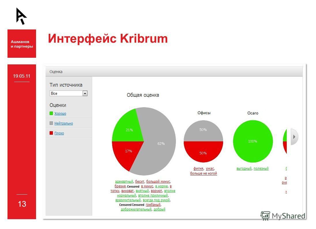 Интерфейс Kribrum 19.05.11 13