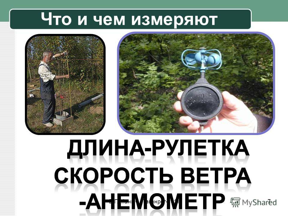 Что и чем измеряют 7Е.Г. Маныч. Таганрог-2011