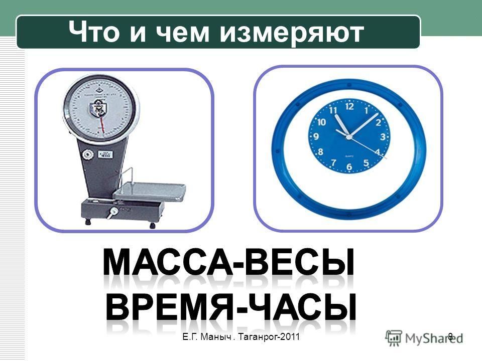 Что и чем измеряют 8Е.Г. Маныч. Таганрог-2011