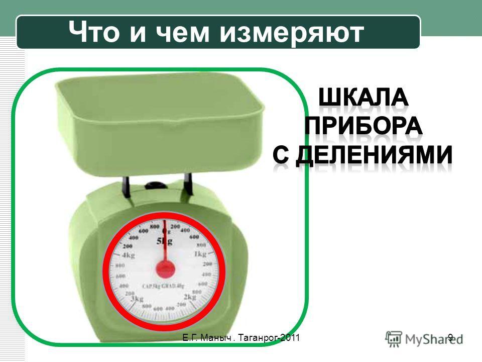 Что и чем измеряют 9Е.Г. Маныч. Таганрог-2011