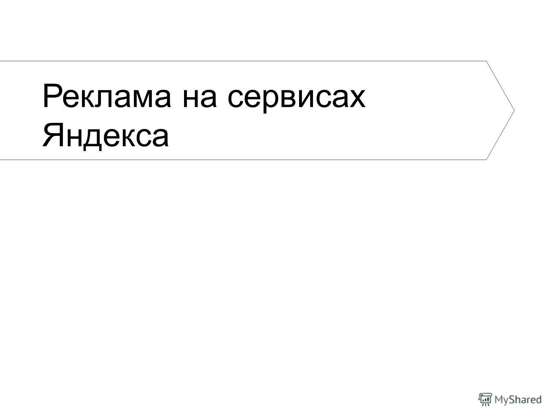 Реклама на сервисах Яндекса