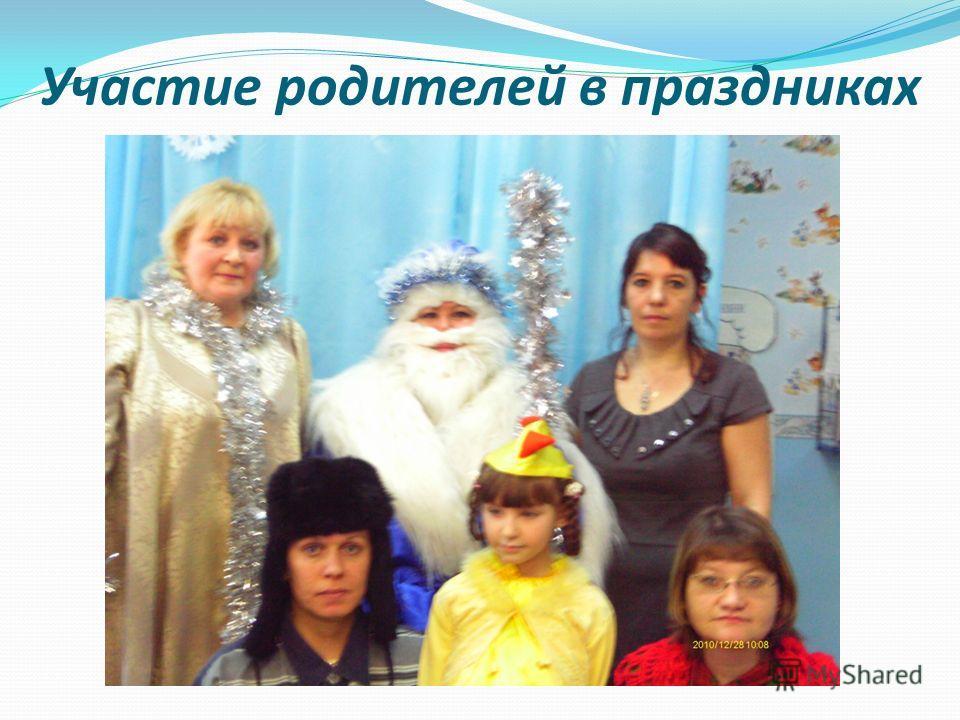 Участие родителей в праздниках