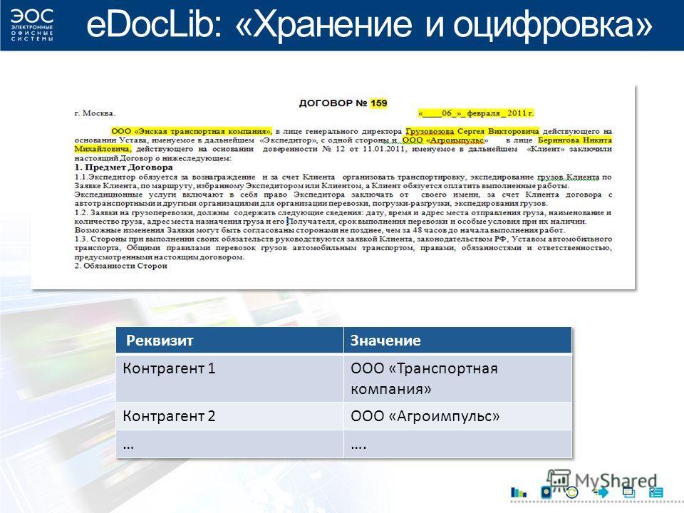 eDocLib: «Хранение и оцифровка»