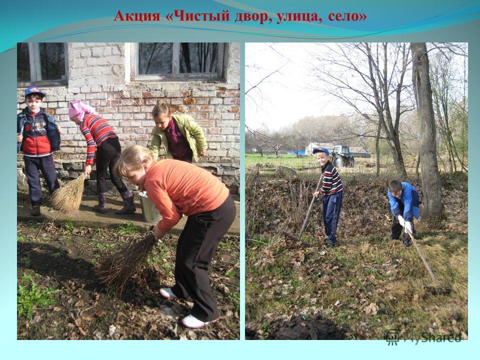 Акция «Чистый двор, улица, село»