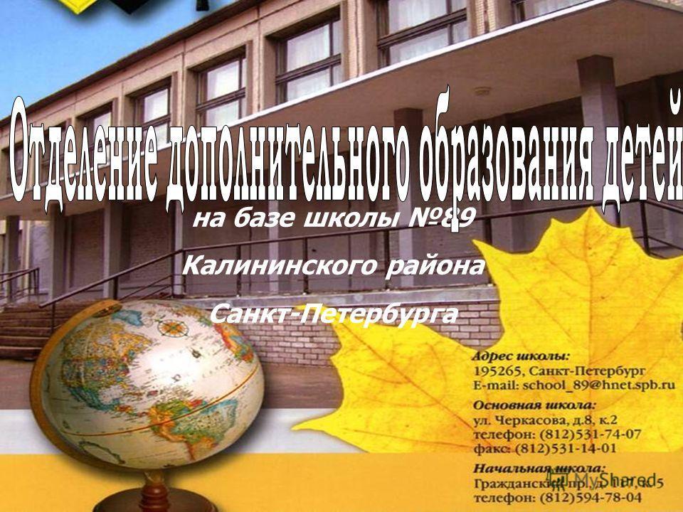 на базе школы 89 Калининского района Санкт-Петербурга
