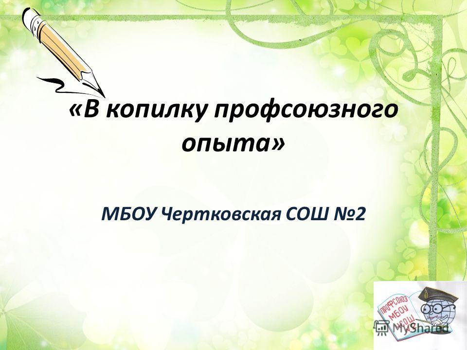«В копилку профсоюзного опыта» МБОУ Чертковская СОШ 2