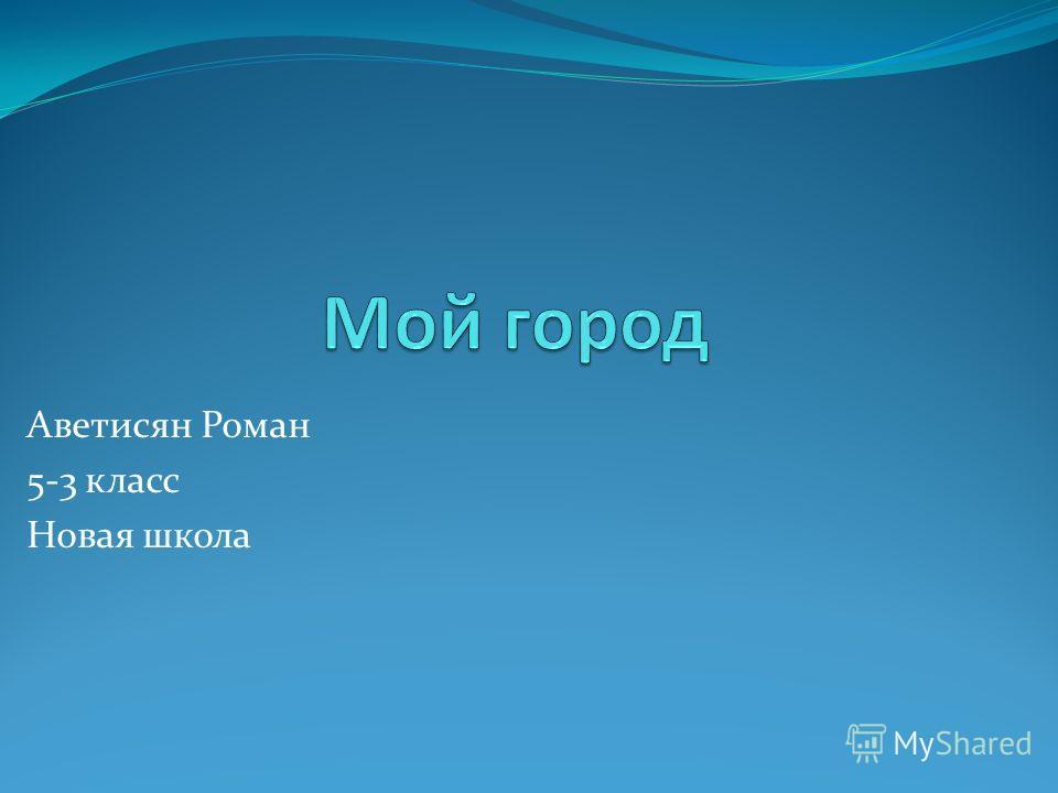Аветисян Роман 5-3 класс Новая школа