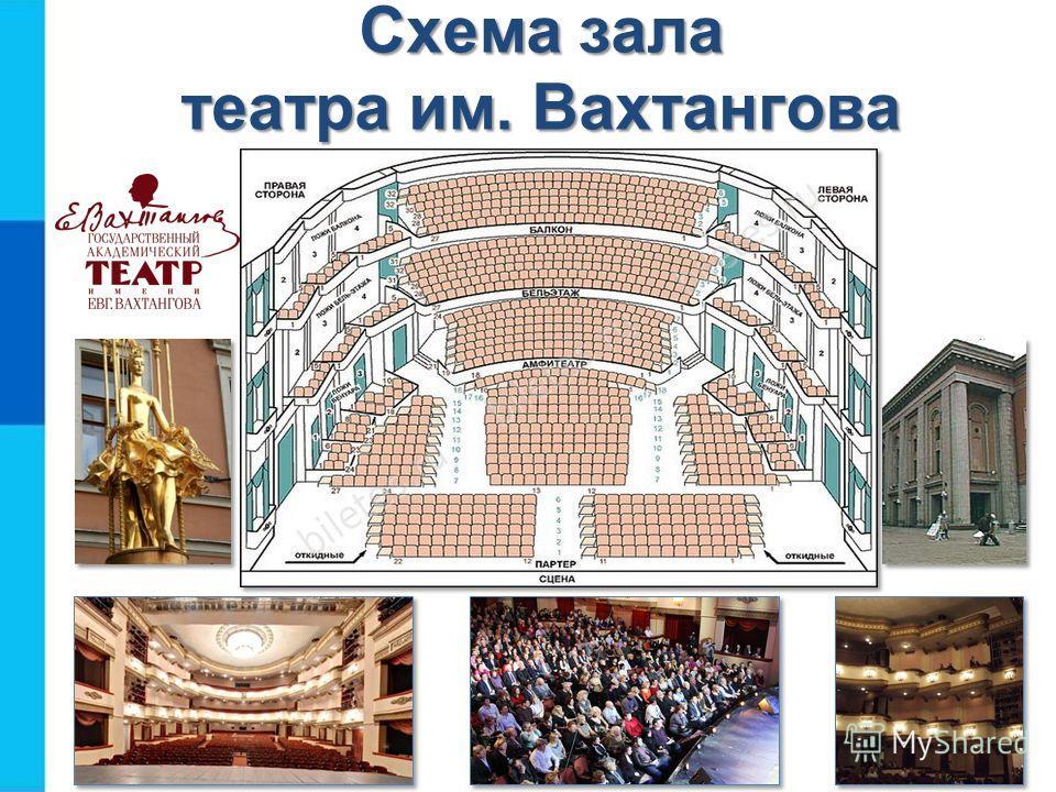 Схема зала театра им.