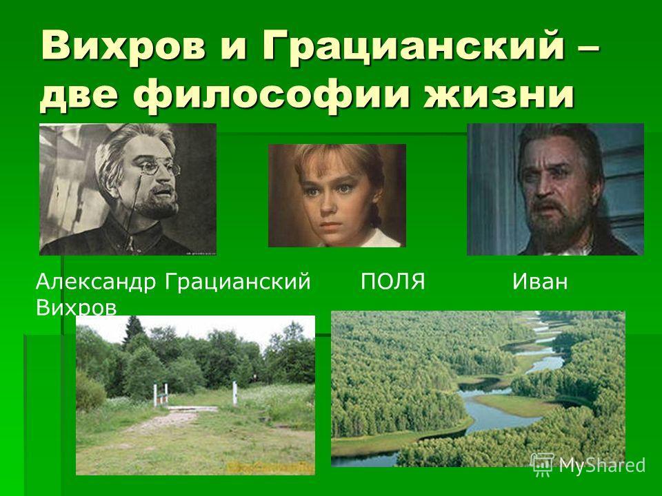 Вихров и Грацианский – две философии жизни Александр Грацианский ПОЛЯ Иван Вихров