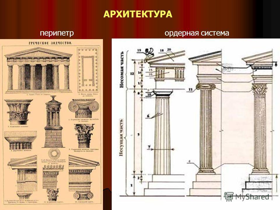 АРХИТЕКТУРА перипетрордерная система