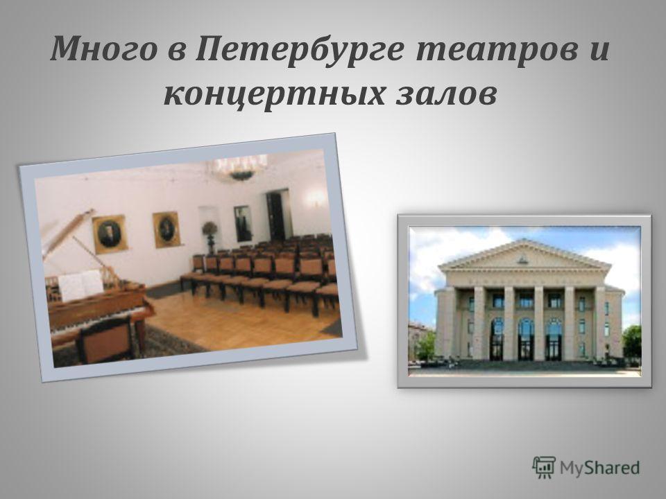 Много в Петербурге театров и концертных залов