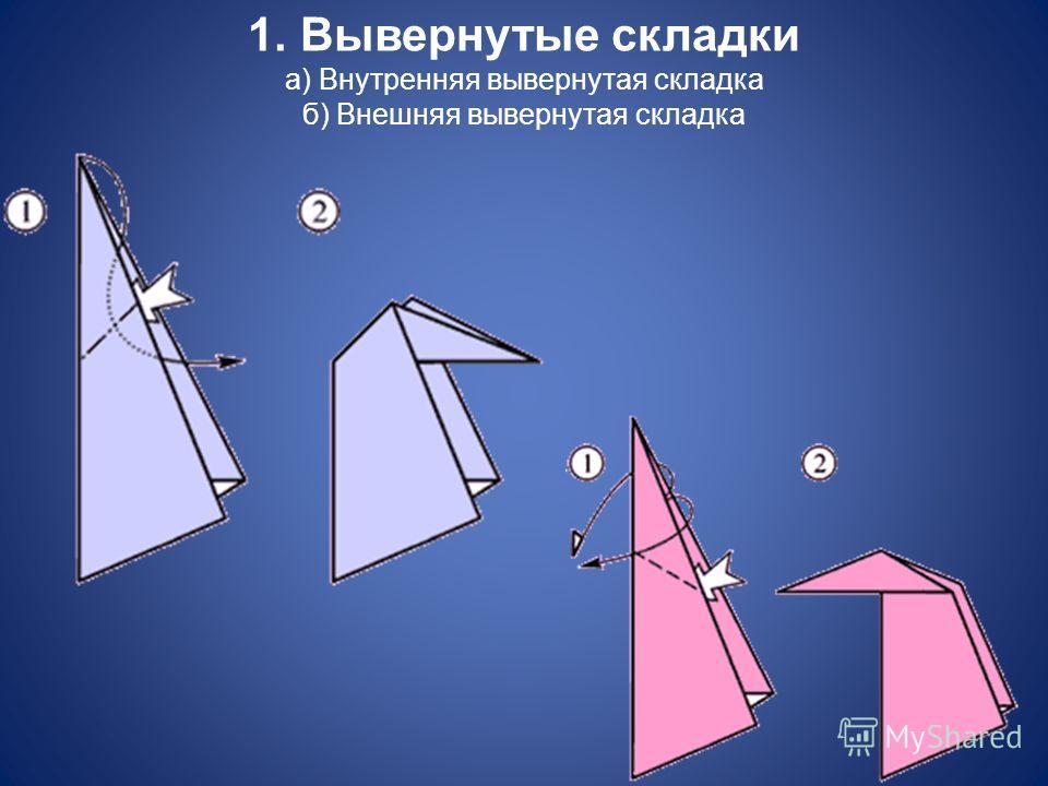 1. Вывернутые складки а) Внутренняя вывернутая складка б) Внешняя вывернутая складка