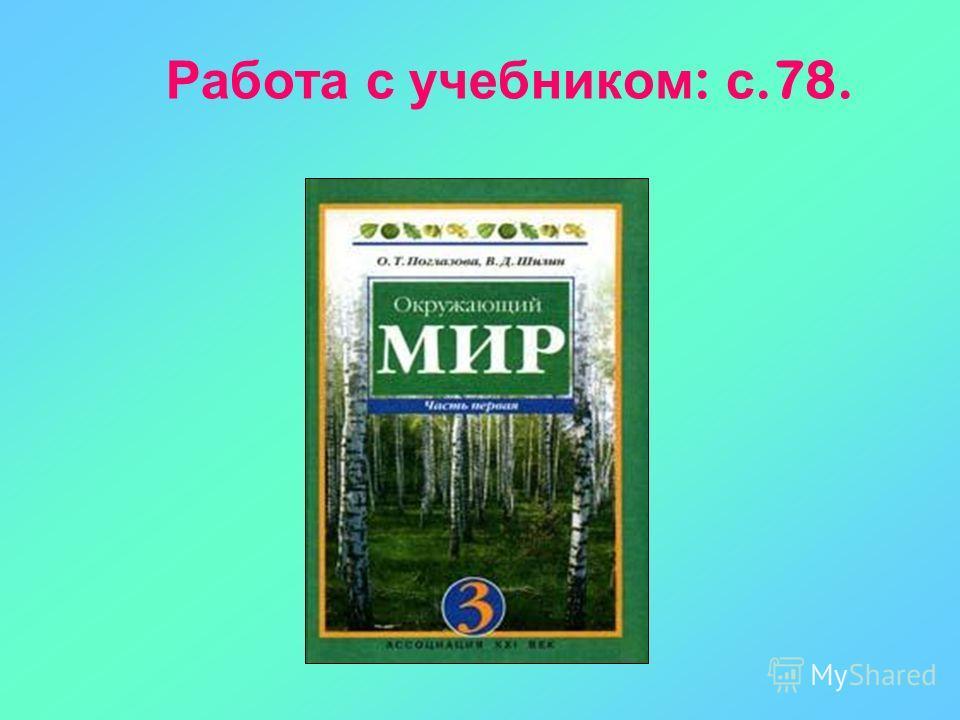 Работа с учебником : с.78.