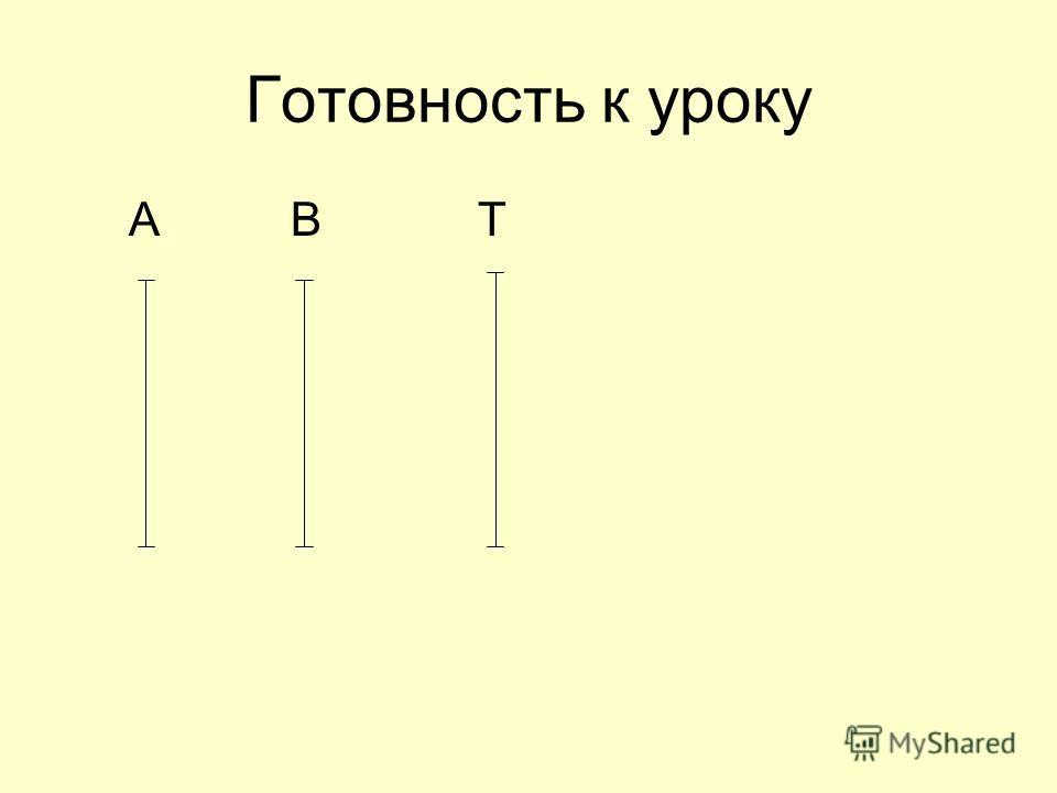 Готовность к уроку А В Т