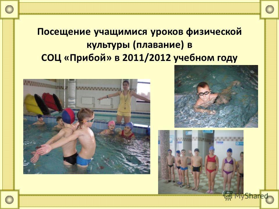 Посещение учащимися уроков физической культуры (плавание) в СОЦ «Прибой» в 2011/2012 учебном году