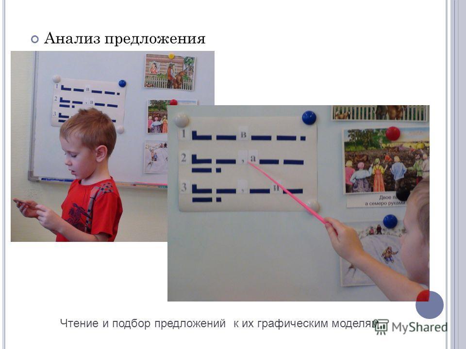 Анализ предложения Чтение и подбор предложений к их графическим моделям
