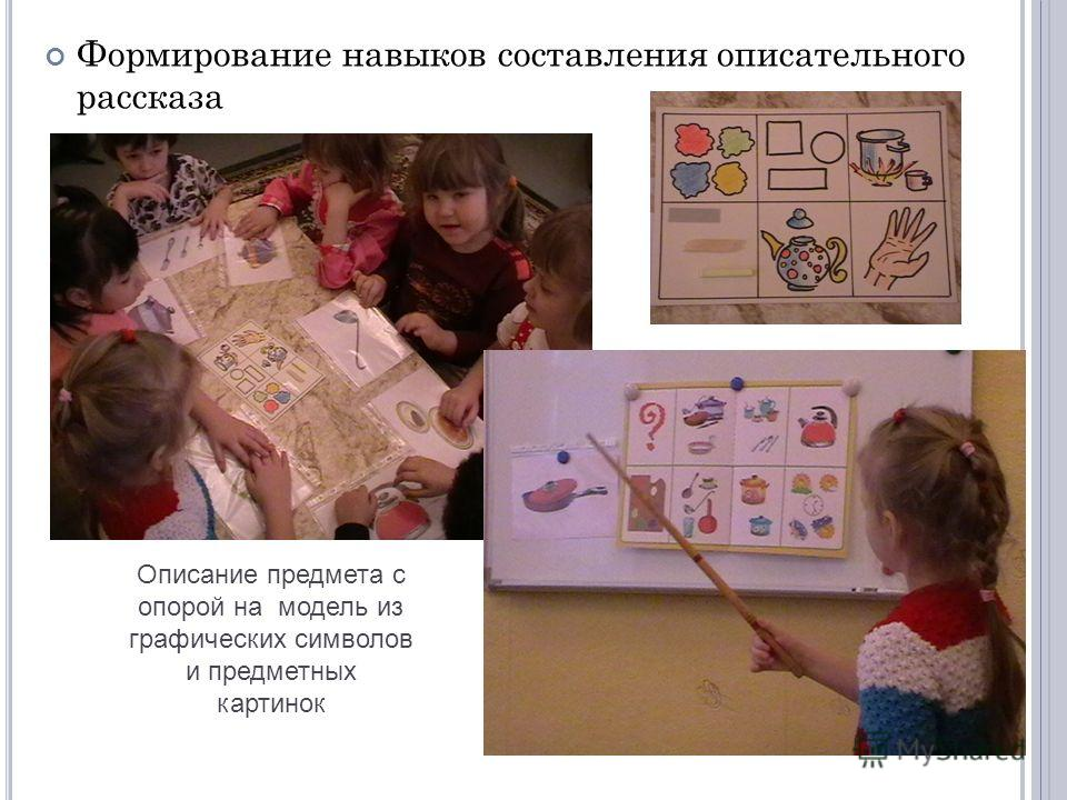 Формирование навыков составления описательного рассказа Описание предмета с опорой на модель из графических символов и предметных картинок