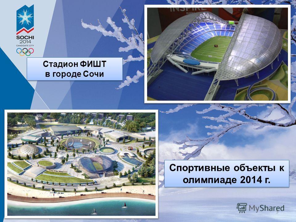 Стадион ФИШТ в городе Сочи Стадион ФИШТ в городе Сочи Спортивные объекты к олимпиаде 2014 г. 3