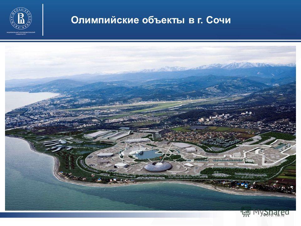 Олимпийские объекты в г. Сочи Фото: ria.ru