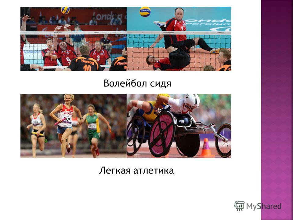 Волейбол сидя Легкая атлетика
