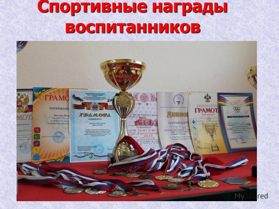 Спортивные награды воспитанников