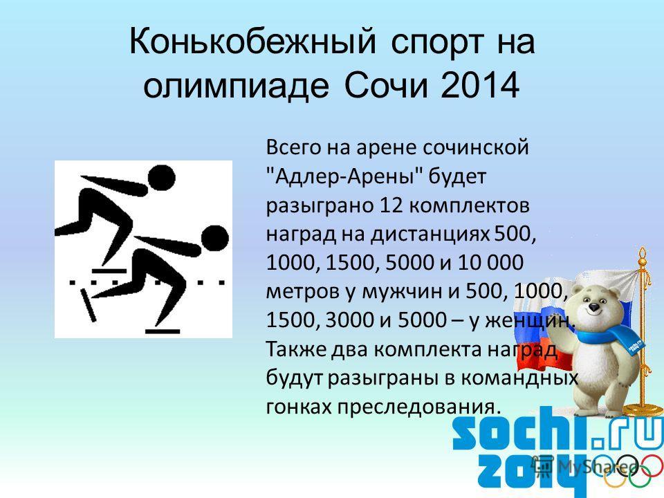 Конькобежный спорт на олимпиаде Сочи 2014 Всего на арене сочинской