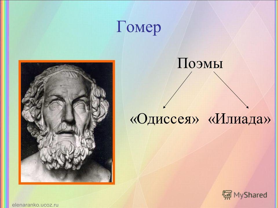 Гомер Поэмы «Одиссея» «Илиада»
