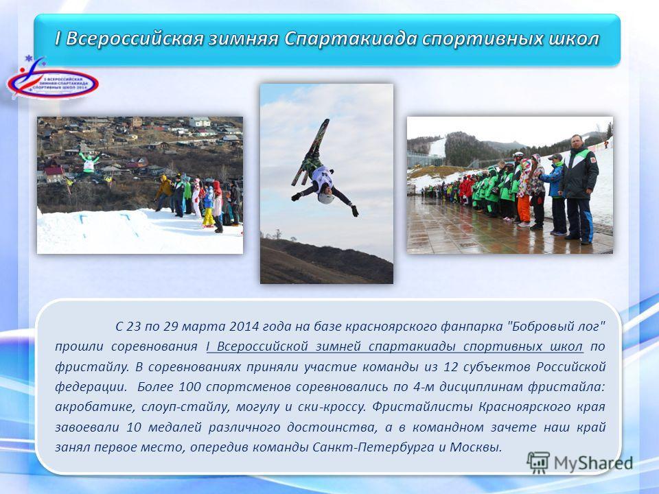 С 23 по 29 марта 2014 года на базе красноярского фанпарка