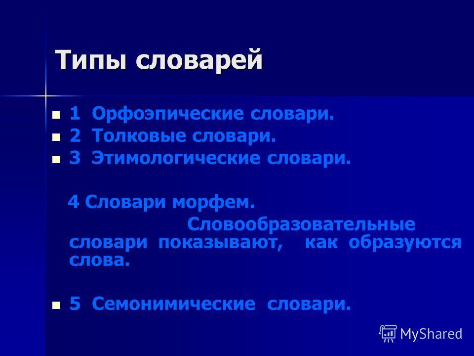 Тема 3.4 Тема 3.4 Основные типы словарей Основные типы словарей