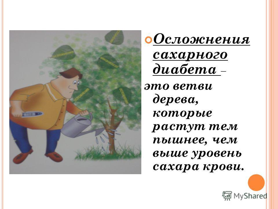 Осложнения сахарного диабета – это ветви дерева, которые растут тем пышнее, чем выше уровень сахара крови.