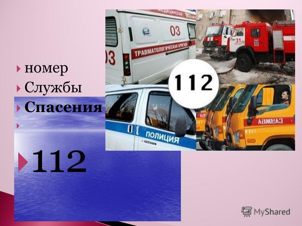 номер Службы Спасения 112