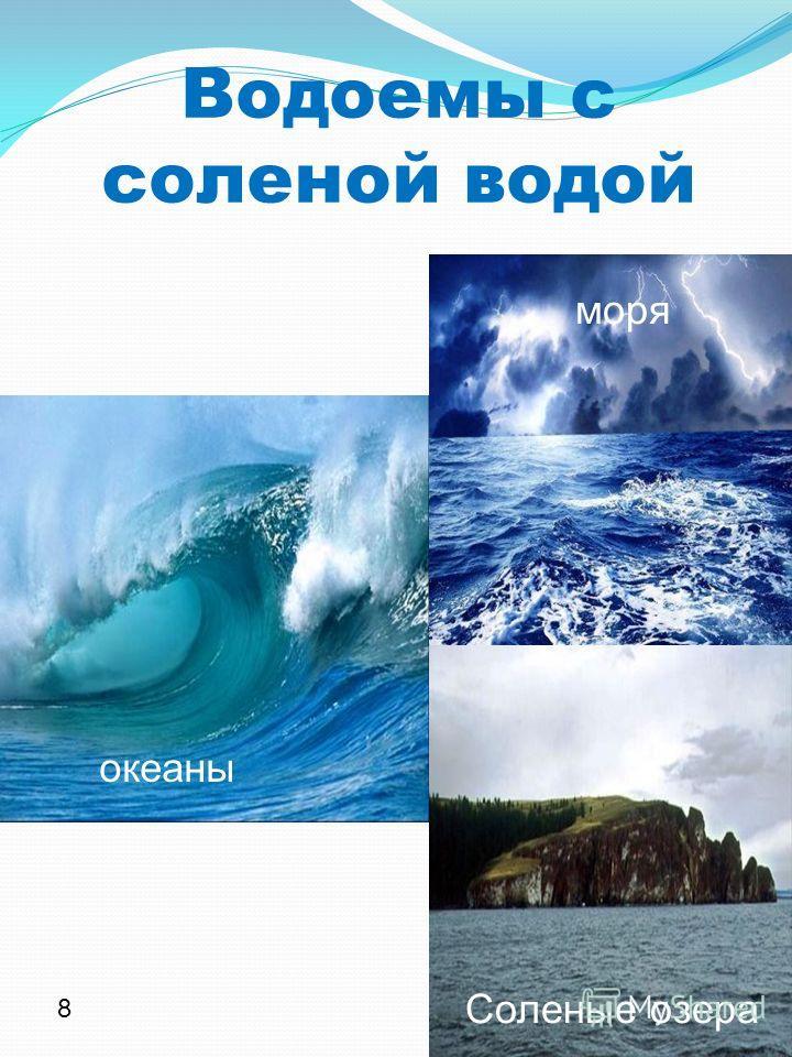 Водоемы с соленой водой океаны моря Соленые озера 8