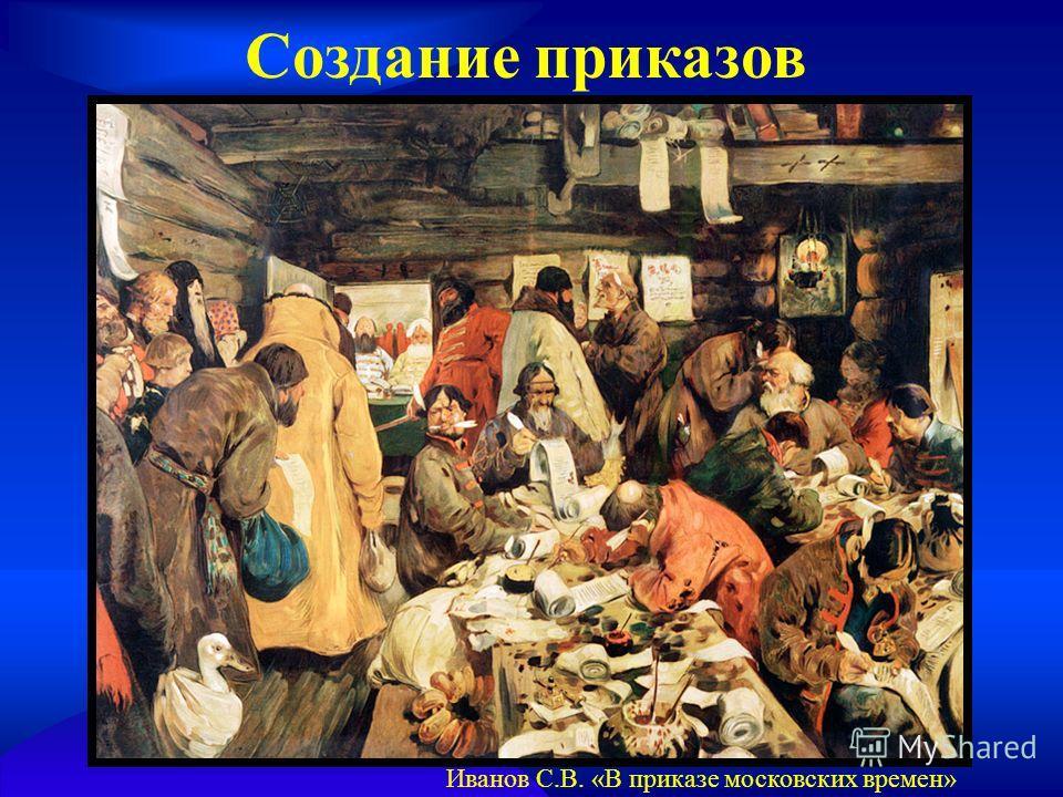 Создание приказов Иванов С.В. «В приказе московских времен»