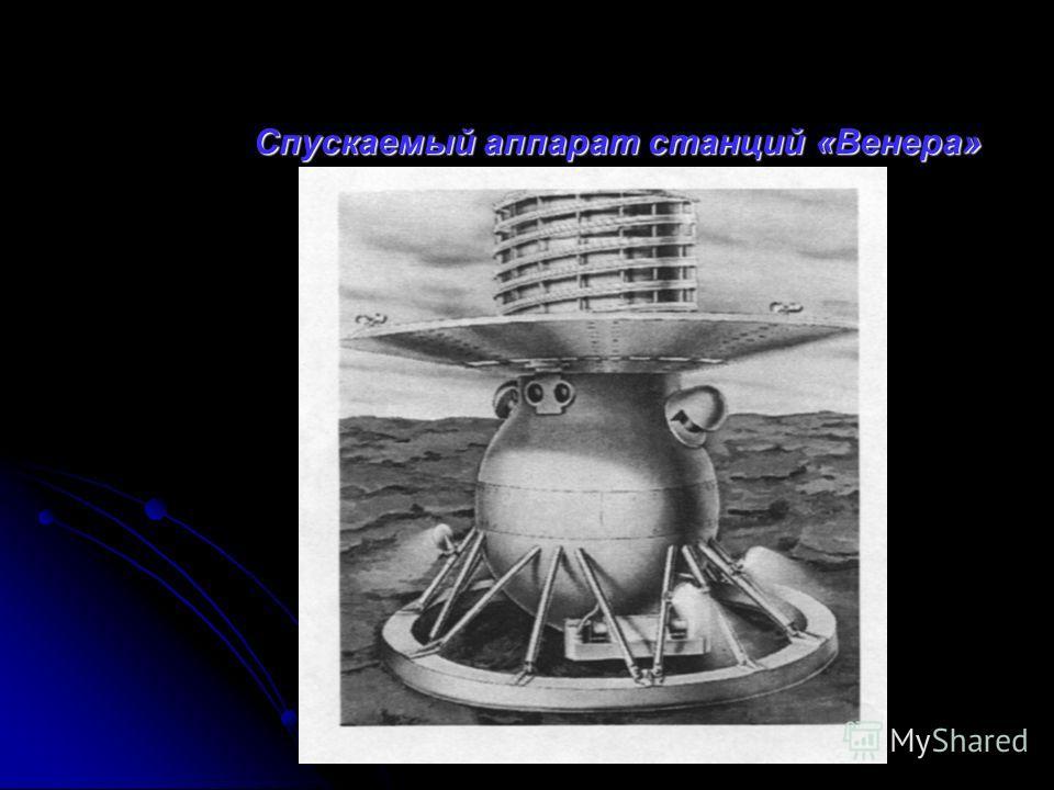 Спускаемый аппарат станций « Венера » Спускаемый аппарат станций « Венера »