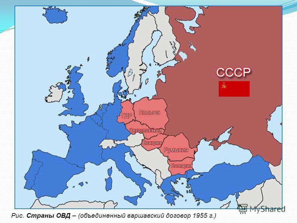 Рис. Страны ОВД – (объединенный варшавский договор 1955 г.)