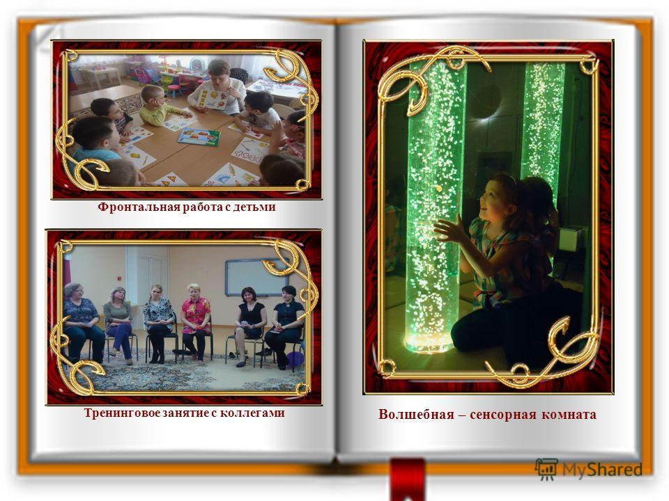 Волшебная – сенсорная комната Фронтальная работа с детьми Тренинговое занятие с коллегами