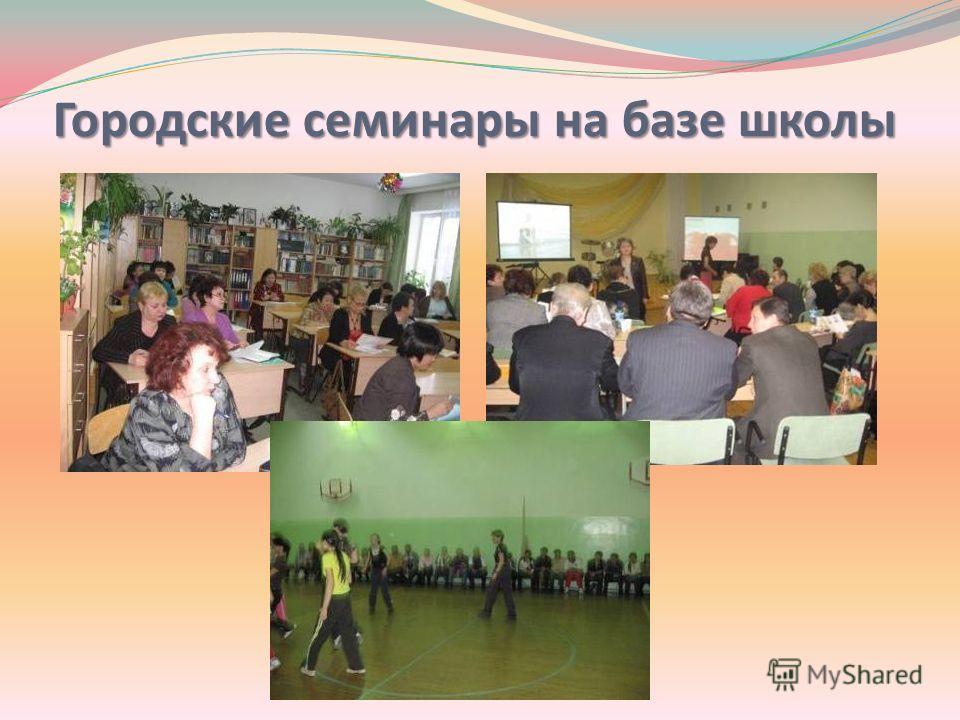 Городские семинары на базе школы
