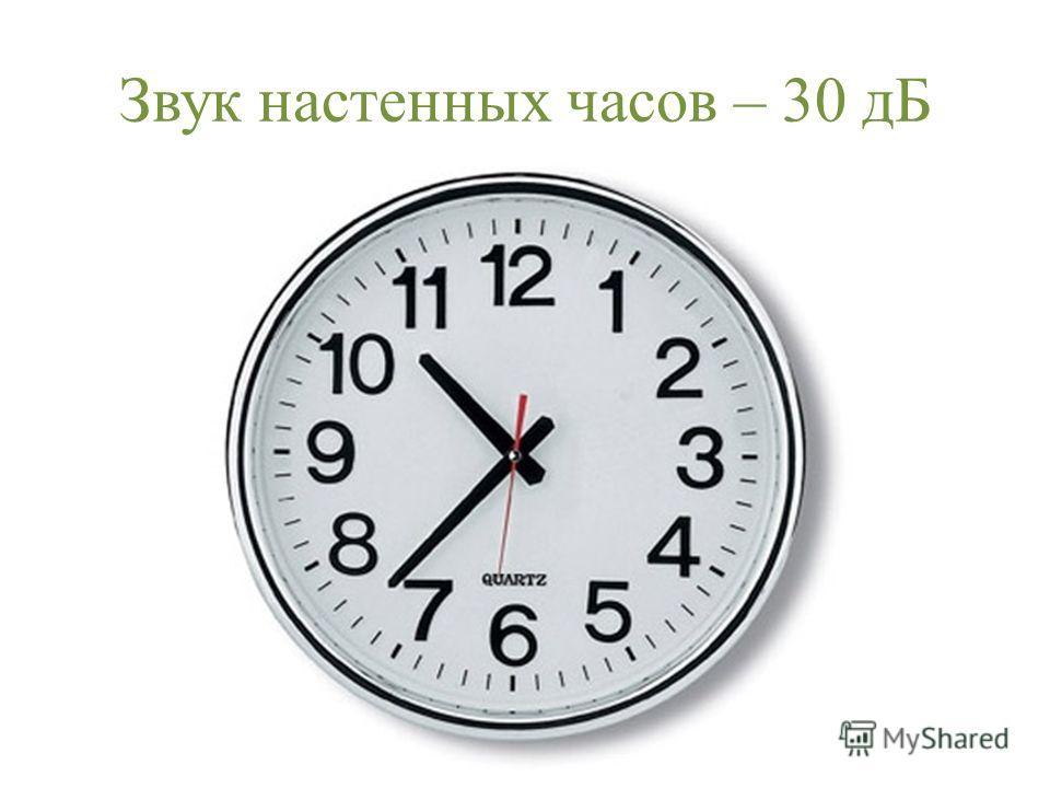 Звук настенных часов – 30 дБ