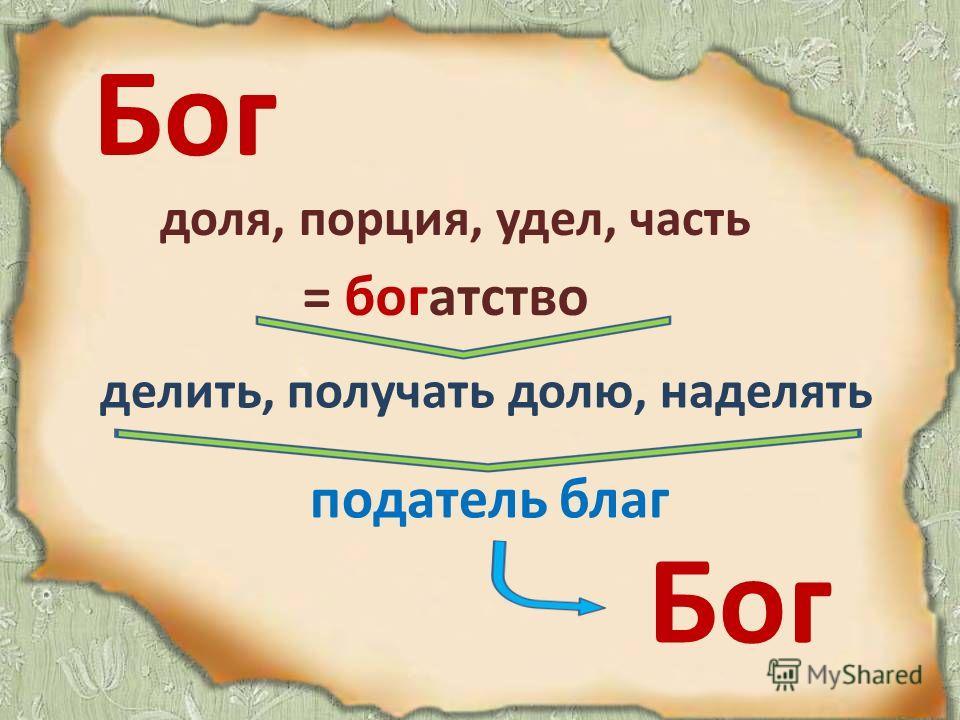 Бог В церковнославянском письме: или же так или