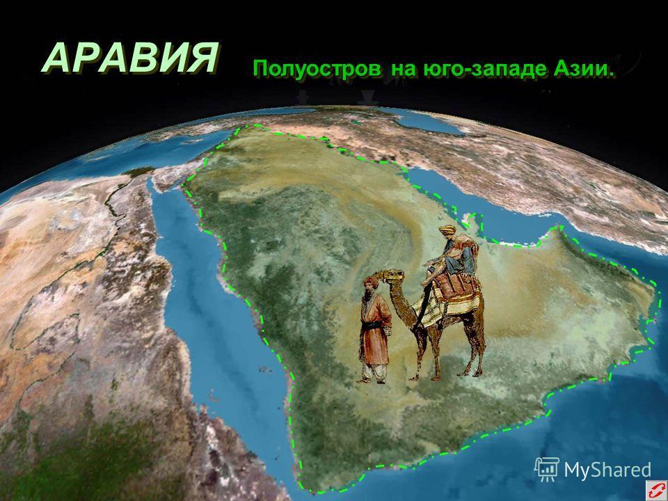 АРАВИЯ Полуостров на юго-западе Азии. Полуостров на юго-западе Азии.