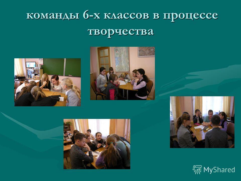 команды 6-х классов в процессе творчества команды 6-х классов в процессе творчества