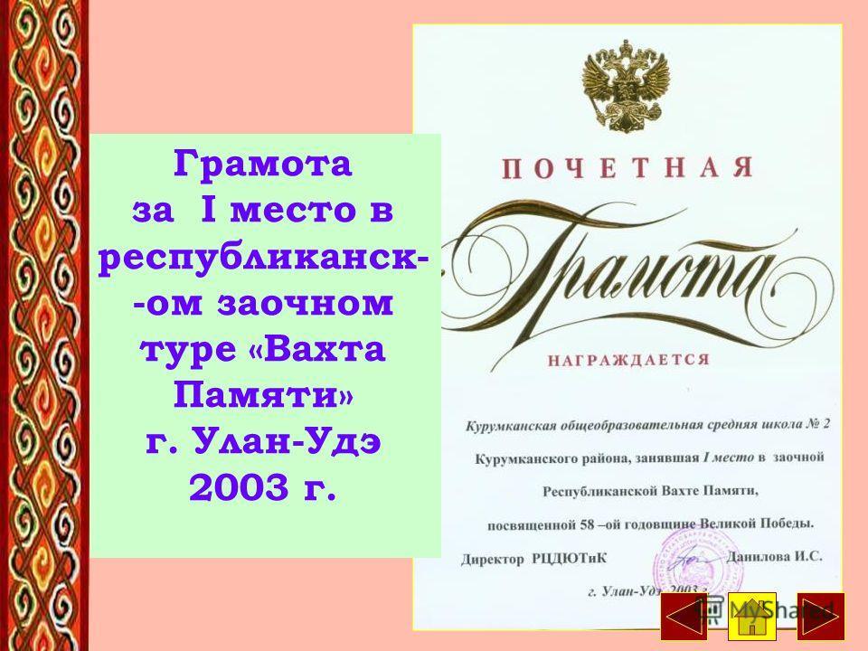 16 Диплом лауреата всероссийского смотра г. Москва 2000 г.