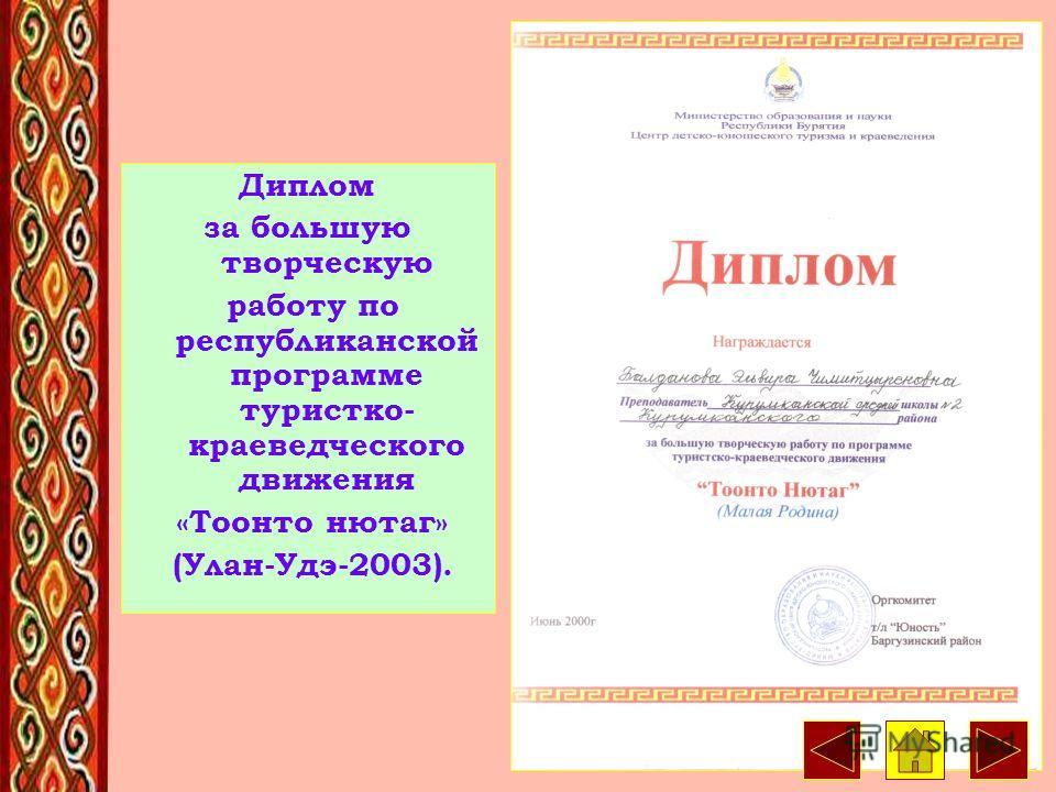 25 Почетная грамота Министерства образования и науки РБ. 2000 г.