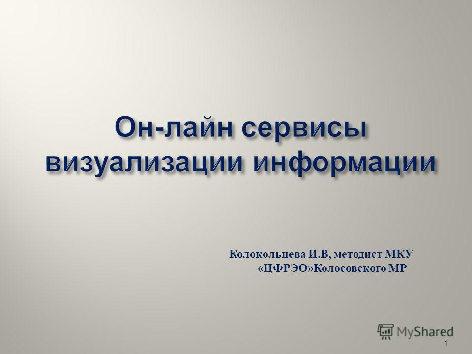 Колокольцева И. В, методист МКУ « ЦФРЭО » Колосовского МР 1