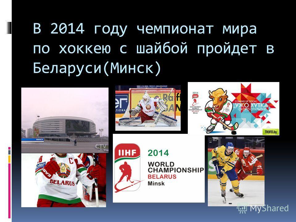 В 2014 году чемпионат мира по хоккеюю с шабой пройдет в Беларуси(Минск)