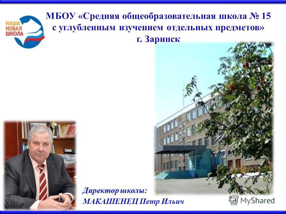 Директор школы: МАКАШЕНЕЦ Петр Ильич